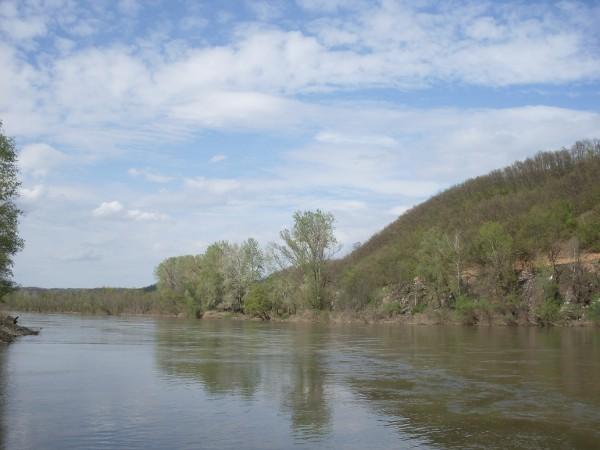 Krivina u Miloševu, reka Velika Morava