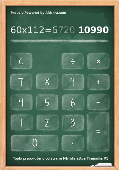 Srpski kalkulator anuiteta kredita za kupovinu Fiata 500L Nacionale