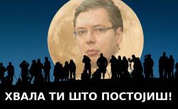 Super Mesec, pardon, Vučić nad Srbijom
