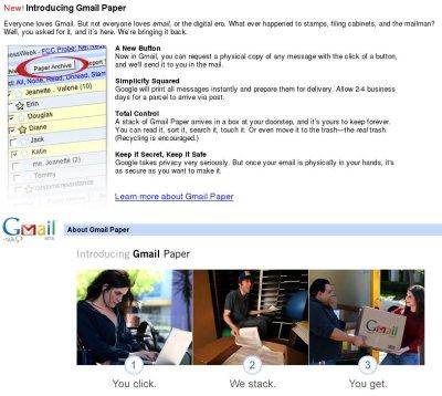 Gmail na papiru