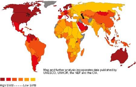 Mapa srećnih nacija