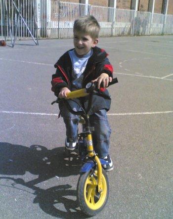 Milutin na bicikli