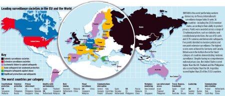 Privatnost na mreži - mapa sveta